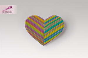 Брошь Striped Heart